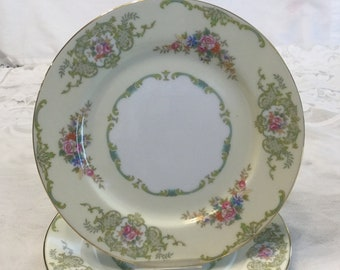 Vintage Noritake Glendola Plates -- Set of Six