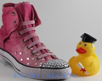 Pink Ombre Rhinestone Converse-Blinged Out Converse-Ombre Chucks-