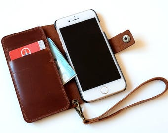 Leather iPhone 8 case, iphone 8 plus case, iPhone 7 wallet case leather, iphone 7 Plus case, iPhone 6s case, iPhone 6 plus case, wallet