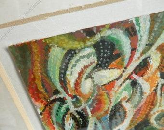 Orphism abstract, 1920's, Czech modernism, gouache on paper