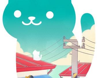 Collecting Days - Neko Atsume fanart print