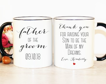 Father of the Groom gift, Father of the Groom gift from Bride, Father of the Groom mug, Father in Law gift, Father in Law mug, From Bride