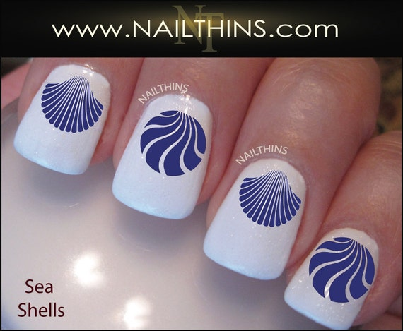 Seashell Nail Decals Nail Art Designs By Nailthins