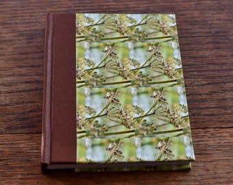 Handmade Hardback notebook - flower pattern