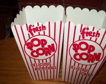 Retro Red and White Popcorn .75 oz  Boxes 20 Movie Night, Party