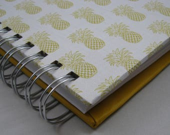 Graph Notebook - Triple Journal - Bullet Journal - Lined Notebook - Blank Journal - Sketch Journal -Square Journal - Notebook - Pineapple