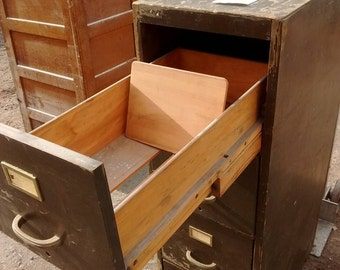 Wooden file cabinet Etsy