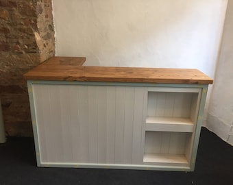 Straight Solid Wood Hand Made Shop Counter - Retail Display  (Corner versions available)