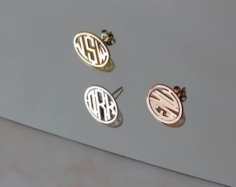 Personalized Monogram Earrings, Initial Earrings, Custom Earrings, Name Earrings, Initial Earrings, Silver Earrings,Gold,Rose,Gift