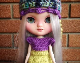 Jellyfish Hat & Dress for Blythe Doll