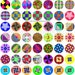 Quilt Block Design One Inch Circles Digital Collage Sheet 63 Different Bottle Cap Images Scrapbooking