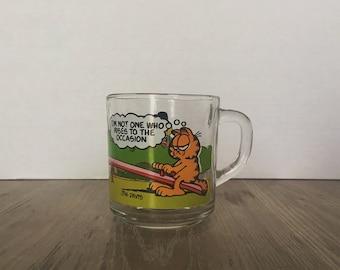 ON SALE, Vintage Garfield Mug, Collectible McDonalds Mug, Jim Davis Mug, 1970's Garfield, Promotional Mug, Jim Davis, Garfield Collection