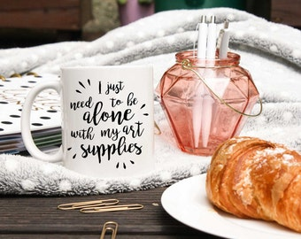 Artist Coffee Mug - Gift For Artist - Artsy Mug - Art Mug - Introvert Mug - Artisan Mug - Painter Gift - Artist Statement Quotes Coffee Mug