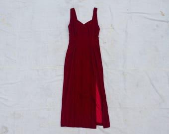 Red Velvet Gown SIZE S