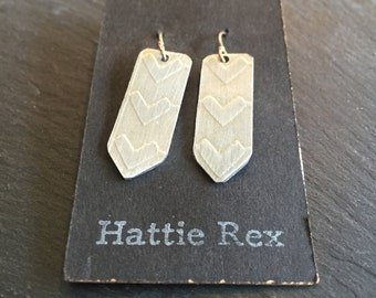 Embossed Chevron Earrings