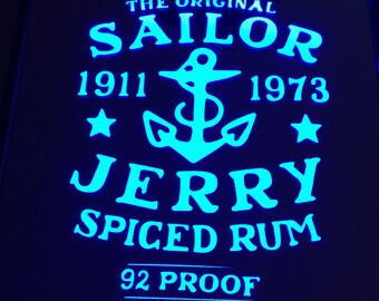 Sailor Jerry Color Changing LED lit Mirror