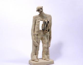 Sculpture, Figure, Ceramic figurine, Ceramic sculpture, Clay sculpture, Male art, Gift for him, Israel, Ceramics, Ceramics and pottery, Art