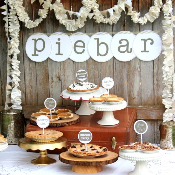 Pie Bar Wedding Or Party Food Station Labels And Signs