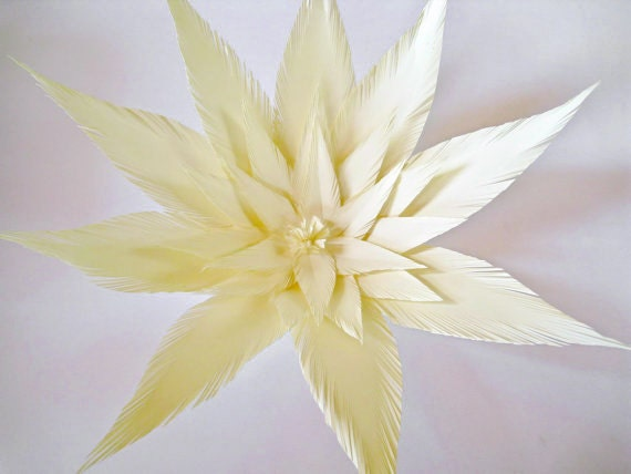 Items similar to Ivory Paper Flower, Big Paper Flowers, Ivory Paper ...