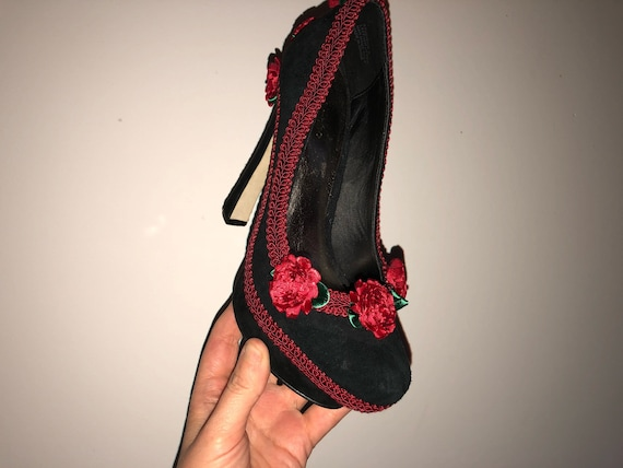 upcycled Ready up pin shoes lace platform Taissa heels size high to 6 by be Lada heels rockabilly upcycled high shipped upcycled rosettes rxSFXra