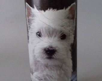 Westie Dog Decorated Bottle