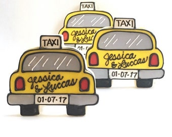 Taxi Cab Wedding Cookies
