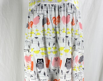 Vintage For the Birds Mr. PJ by Barad Nightgown Super cute Cotton Print Chickens and Owls