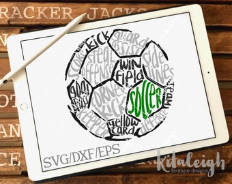 Messy Soccer INSTANT DOWNLOAD in dxf, svg, eps for use with programs such as Silhouette Studio and Cricut Design Space