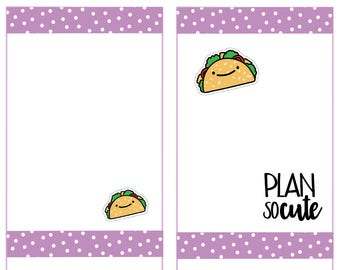 Taco Stickers, Taco night, Taco Tuesday Planner Stickers -047