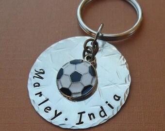 Personalized Soccer Keychain- Custom Man Dad Father Gift - Personalized Sport Keychain Soccer Football - Soccer Team- Soccer Fan Gift- K31