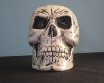 Ceramic Skull Toothbrush Holder/Container
