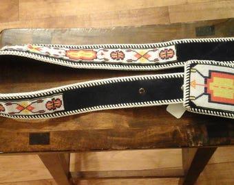 Beaded Belt and Buckle Handmade