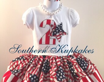 Birthday RWB PATRIOTIC RED WHiTE BLuE Twirl Dress Custom BOUTiQUE Pageant Party All Sizes July 4th fourth Stars Stripes Fireworks