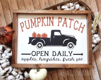 Pumpkin Patch | Happy Fall | Fall Decor | Rustic Fall Sign | Pumpkin Patch Sign | Farmhouse Fall | Pumpkin Patch Fall Sign