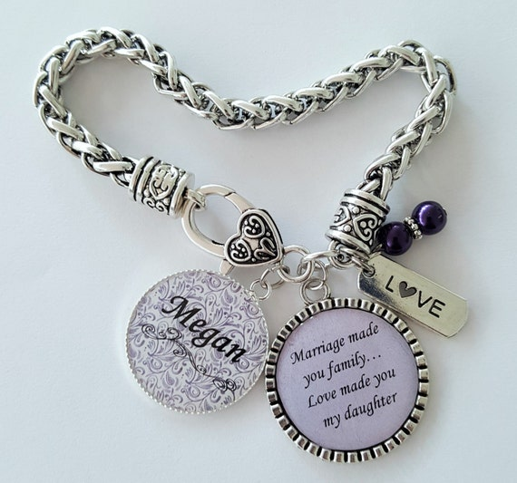PERSONALIZED Daughter in Law Gift / Step Daughter Gift / Step Daughter Bracelet / Gift for Step Daughter / Daughter in Law Wedding Gift