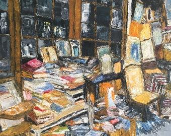 Typical parisian book shop of the flea market of Saint-Ouen