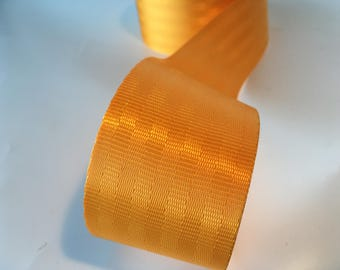 "1m Yellow Gold polyester Webbing 50mm/2"" wide - seatbelt type webbing, bag strap, bag handle"