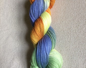 Hand dyed merino sock yarn