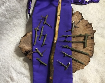 Hawthorn~Wand~Spikes~13~Fertility~Love~Enchantment~Pagan~Wiccan~Seer~