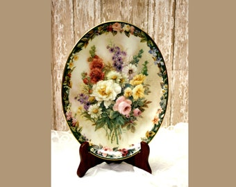 Lena Liu's Floral Cameo's, Remembrance, Braford Exchange Plate, 13434A