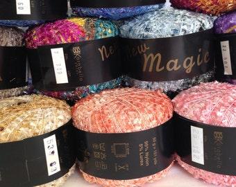 KARABELLA NEW MAGIC, worsted weight eyelash yarn  (All colors)