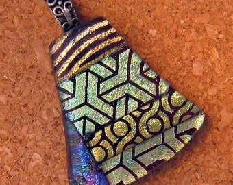 Dichroic Fused Glass Pendant - Dichroic Jewelry - Fused Glass Pendant - Fused Glass Jewelry - Dichroic Necklace - Fused Glass