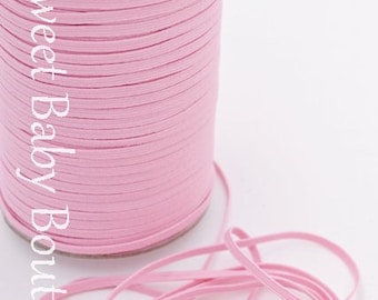"WHOLESALE 1/8"" Skinny Elastic 200 Yard Roll Pink"
