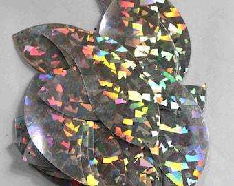 20 Leaf Shape Sequins /Silver Color/Glittering Texture/PIS625