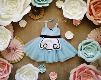 Alice in Wonderland Costume Dress, Halloween Costume, Girls Dress