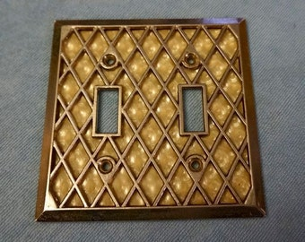 Metal; Vintage Switchplate Cover; Approx. 4.5 x 4.5 in. Stylish !!!