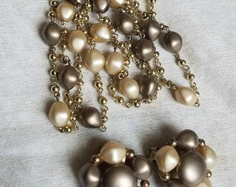 Vintage Bracelet and Clip on Earrings