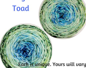 Frog and Toad Impressionist Gradient, dyed to order - pick your yarn and yardage!
