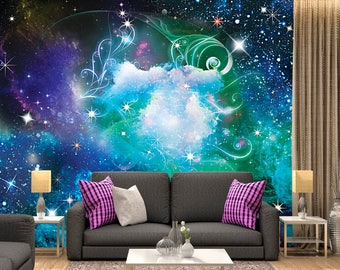 Digital Art, series galaxy, name - magic  / Space Galaxy, Wall Murals, Wallpaper, Stars, Universe, Planet, Space,Peel and Stick