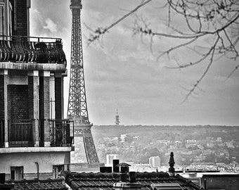 Eiffel in the Distance,Fine Art Photography-Paris,France,multiple sizes available,Travel,Eiffel Tower,Black and White,Landscape